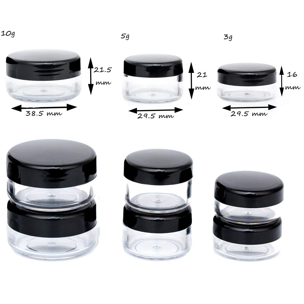 0cb10792802c Tiny Sample Containers 3 Gram Sample Jars 25pcs Makeup Sample Containers  with Lids