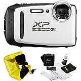 FujiFilm FinePix XP130 Rugged Waterproof WiFi Digital Camera + Focus Floating Strap Bundle (White)