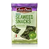 Annie Chun's Roasted Seaweed Snacks, Wasabi, 0.35 Ounce (Pack of 12)