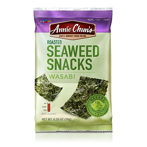 Annie Chun's Roasted Seaweed Snacks, Wasabi, 0.35-ounce (Pack of 12)