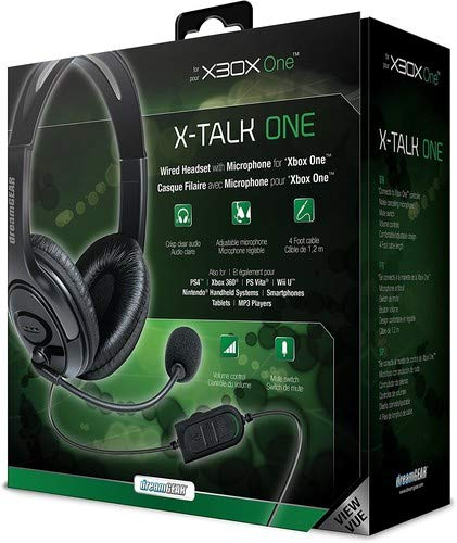 Auriculares Gamer : Dreamgear X-talk One Wired Black