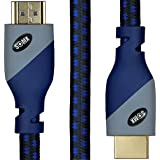 HDMI Cable 6ft - HDMI 2.0 Ready (4K @ 60Hz, 18Gbps) - Braided Cord (28AWG) - High Speed with Ethernet & Audio Return Channel - Video 4K 2160p, HD 1080p, 3D - Xbox, PlayStation, PS3, PS4, PC, Apple TV