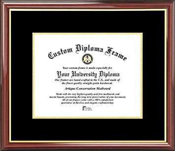 plain mat college university black gold mats mahogany gold trim diploma