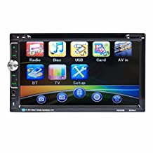 Boddenly 7 Inch HD 2DIN Bluetooth Touch Screen Car Video CD DVD Player Car Stereo In-Dash DVD MP5 Player