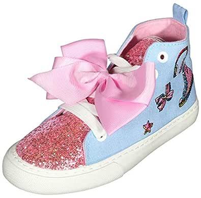 JoJo Siwa Girls High Top Fashion Sneakers (Little Kid/Big Kid) Blue Size: 2 M US Little Kid