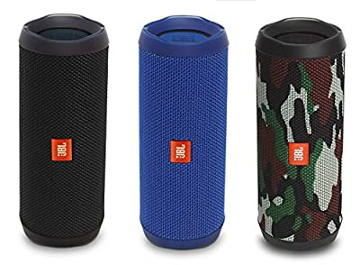 JBL Flip 4 Waterproof Portable Rechargeable Bluetooth Wireless Speaker with Echo Cancelling Speakerphone (Non-Retail Packaging)