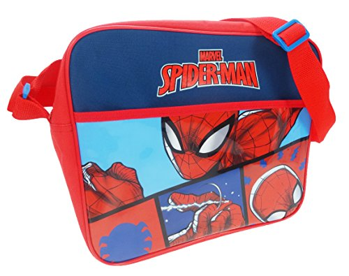 Spiderman Courier Bag Borsa Messenger, 34 cm, Rosso (Red)