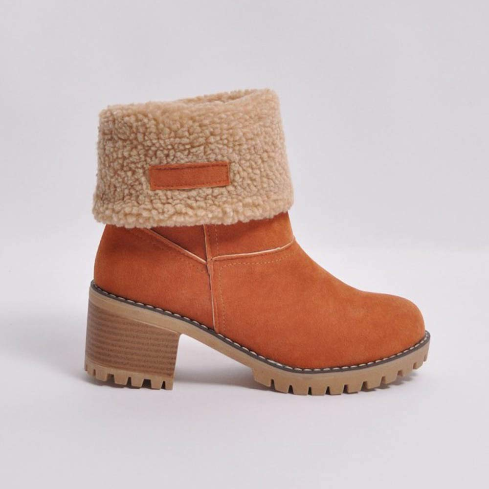 207a15d4ec POLP Botas Goma Tacon Zapato Mujer Tacon Ancho Zapatos señora Invierno Botas  de Vestir Botines Mujer Ampliar imagen