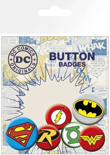 dc-comics-superhero-logos-insignias-6-piece-button-pin-badge-set-batman-wonder-woman-the-green-lante