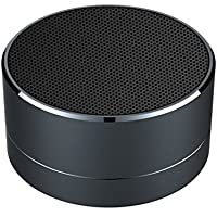 Mini Speaker, Ultra Portable Desk Office Wireless Bluetooth Speakers Built-in Microphone and TF Card Port Works for Ipad, Iphone and Other Bluetooth-enabled Device (Black)