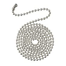 Westinghouse 77238 - 3' Beaded Chain with Connector - Brushed Pewter Finish