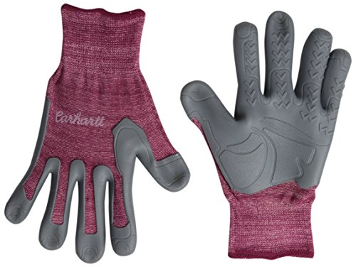 Carhartt Women's Durable Pro Palm Work Glove with Extreme Grip, Raspberry, Large/X-Large