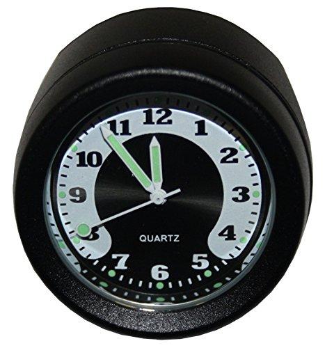 Hells-Design Horloge voor stuur, waterdicht, zwart, voor 22 mm en 25 mm