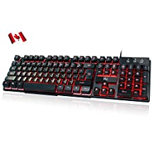 Rii K100 3-LED Colors wired Mechanical-feeling Keyboard