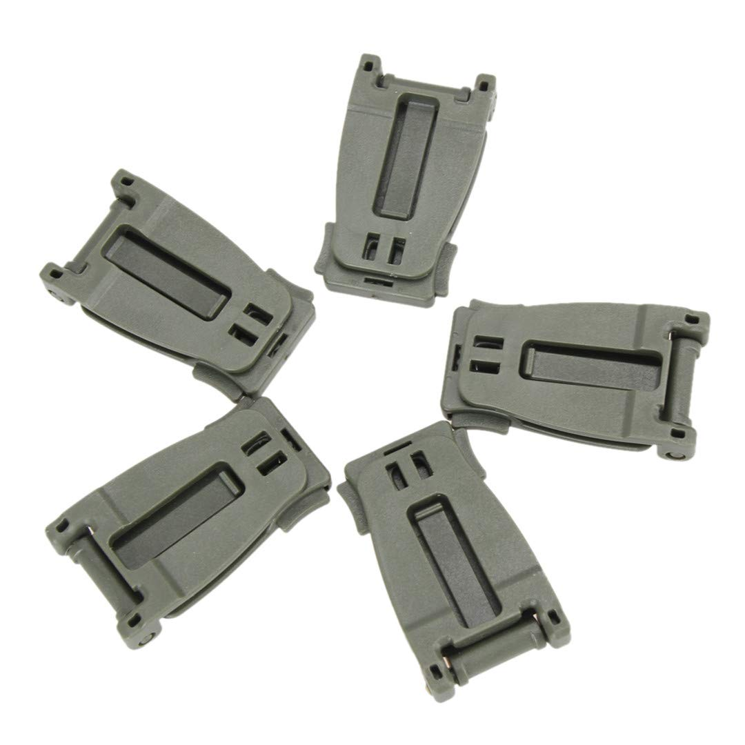 5Pcs Tactical Molle Strap Bag Backpack Webbing Connecting Buckle Clip EDC Tools