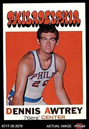 ef7073f60 1971 Topps   124 Dennis Awtrey Philadelphia 76ers (Basketball Card) Dean s  Cards 3 -