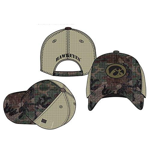 Woodland Camo University of Iowa Hawkeyes Hat (Camo Iowa Hawkeyes)