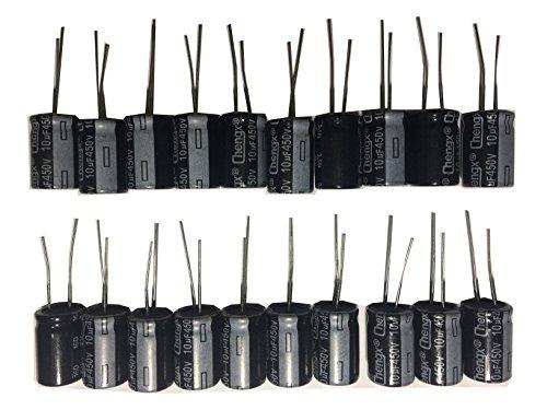 10uF 450V 13X20 +/-20% +105℃ 20 PCS Aluminum Electrolytic Capacitors Free USA Shipping 450v Electrolytic Capacitor