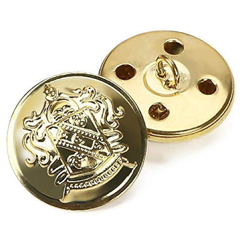 Metal Jeans Suit Buttons Shank Sewing Buttons Fasteners with Lions Pattern Pack of 12
