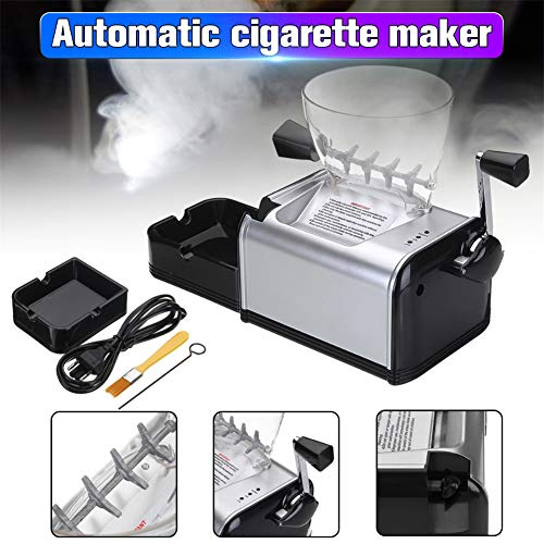 Oeyal Cigarette Rolling Machine Electric Cigarette Tobacco Roller Maker Automatic Cigarette Injector Maker Machine (Black) by Oeyal (Image #3)