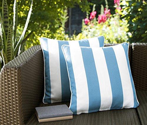 Light Blue Outdoor Cushions - 4