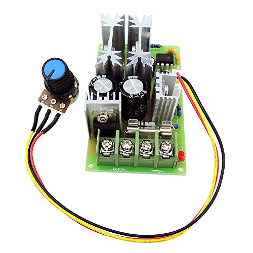 uniquegoods 12V 24V 36V 48VDC 20A 500W (Max) Universal DC Motor Speed Controller PWM Adjustable Speed Driver Module without Switch L0577 - 2 Speed Universal Motor