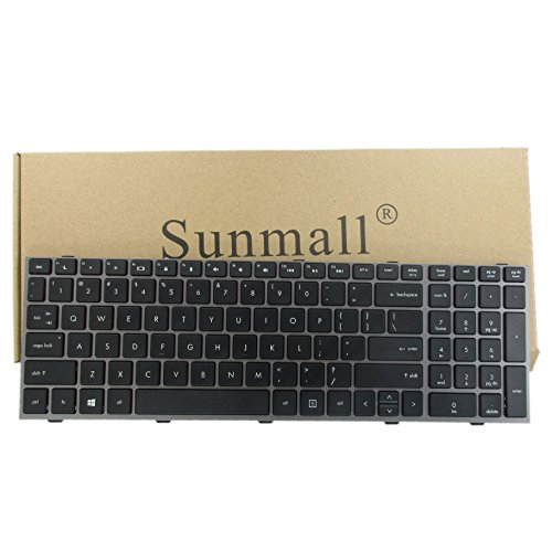 SUNMALL New Laptop Keyboard with Frame for HP ProBook 4540s 4540 4545s Series Compatible with Part Number 702237-001 683491-001 701485-001 Black US Layout ()