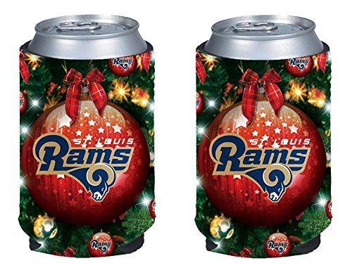 (NFL Football 2015 Christmas Ugly Party Can Kaddy Holder Cooler 2-Pack (St Louis Rams))