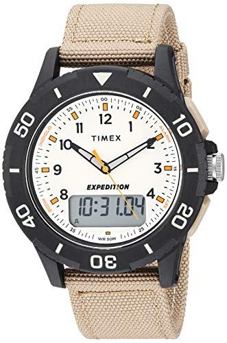 - Timex Men's TW4B16800 Expedition Katmai Combo 40mm Khaki/Black/Natural Nylon Strap Watch