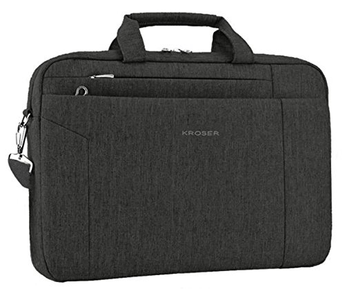 KROSER Briefcase Messenger Repellent Men Charcoal