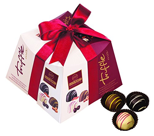 Caramel Cherry - Elit - Gourmet Collection Chocolate Truffles, Almond Cream, Caramel and Sour Cherry Fruit filling, Gift Box with Ribbon - (Mix - 117 gr) (9 Count)