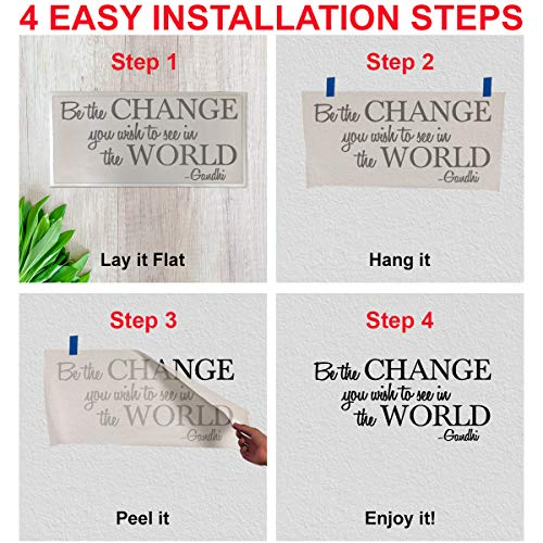 Be the change you wish to see in the world – Gandhi Wall Quote Sayings Letters Decals Lettering Vinyl sticker Sign