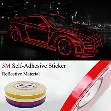 3M Blue Reflective Tape Safety Self Adhesive Striping Sticker 150FT Roll 1Cm
