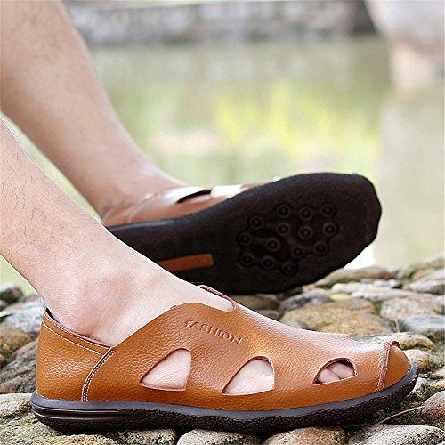 Brun Slip Flip Hommes Plage Une Flop amp; Chaussures Printemps Casual Respirant Sandales Eté Mocassins Noir Conduite Bleu ons wCxaBzqCX
