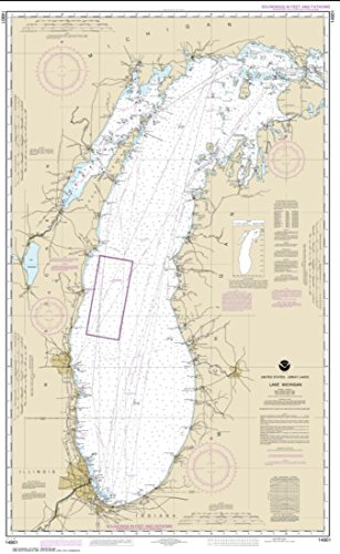 NOAA Chart 14901-Lake Michigan (Mercator Projection) - Water-Resistant - by East View Geospatial
