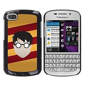 // PHONE CASE GIFT // Duro Estuche protector PC Cáscara Plástico Carcasa Funda Hard Protective Case for BlackBerry Q10 / Harry Nutria /