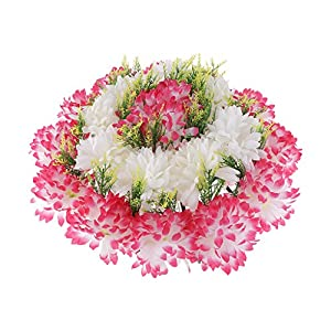 D DOLITY Beautiful Artificial Silk Carnation Chrysanthemum Cemetery Grave Patriotic Memorial Flower 57