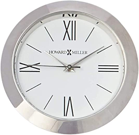 Howard Miller Prism Table Clock 645-717 Optical Crystal with Beveled Edges Home Decor with Quartz Movement