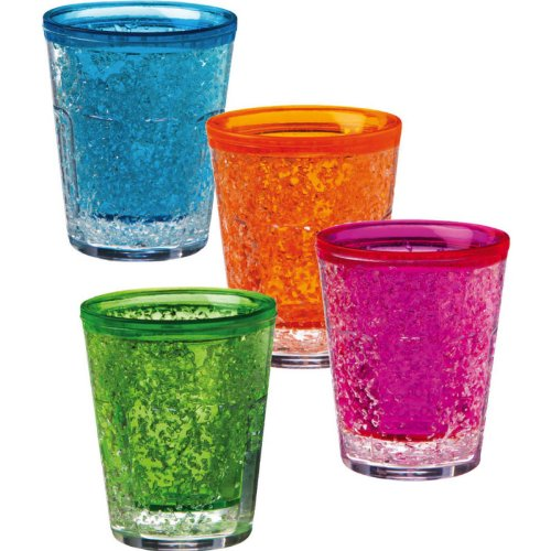 Ultra-Cool-Freezable-Gel-Shot-Glasses-2-Oz-Blue-Pink-Orange-and-Green