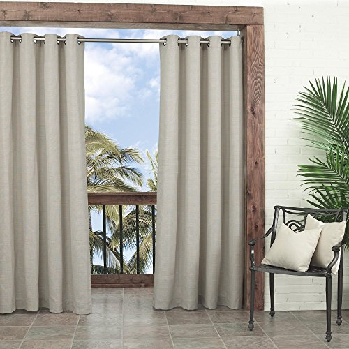 Parasol 14025052084OAT Key Largo 52-Inch by 84-Inch Indoor / Outdoor Single Curtain Panel, Oatmeal (Window Panel Curtain Outdoor)