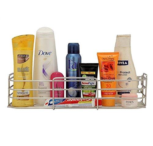 "Omic Mirror Finish Stainless Steel Medium Bottle Rack for Multi Purpose Bathroom,Kitchen Rack (L-12"", B-5"", H-3"") Wall Mount"