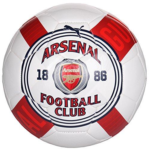 Puma Arsenal Club Crest Graphic White Soccer Ball - 4