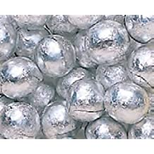 Silver Foiled Milk Chocolate Balls 1LB Bag by N/A