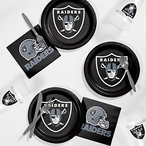 - Creative Converting Oakland Raiders Tailgating Kit, Serves 8