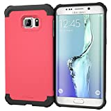 Galaxy S6 Edge+ Case, roocase [Exec Tough] S6 Edge+ Slim Fit Case Hybrid PC / TPU [Corner Protection] Armor Cover Case for Samsung Galaxy S6 Edge Plus (2015), Coral Pink