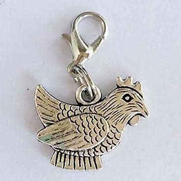 Amazon.com: Anti chapado en plata colgando clip-on gallo ...