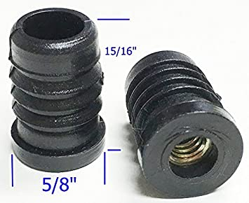 """oajen vaso de ruedas muebles Insertar para 1/4 """"rosca de – 20"""