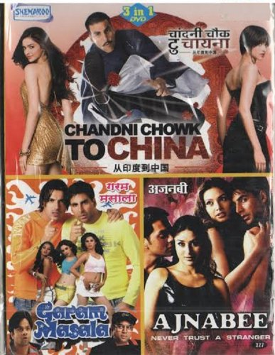 Chandni Chowk to China/Garam Masala/Ajnabee (Hindi Film / Bollywood Movie / Indian Cinema 3 in 1 - 100% Orginal DVD Without Subtittle)