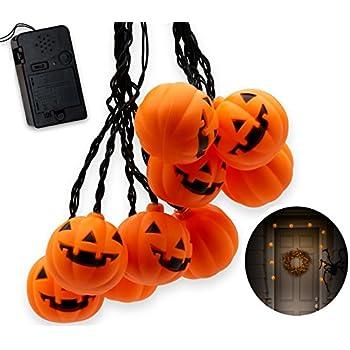 this item top race halloween pumpkin string lights 10 big 3 inch battery powered jack o lantern pumpkin blinking lights with motion sensor and halloween - Halloween Items