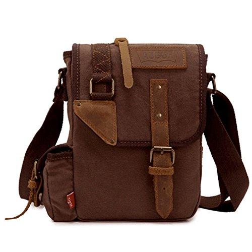 V European Office Cross Body Leather Hand Bag(Black) - 6